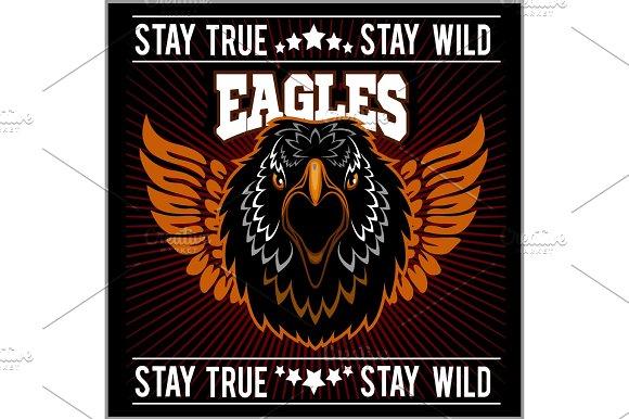 Eagle Head Logo Template Hawk Mascot Graphic