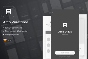Arco – Wireframe Mobile UI Kit