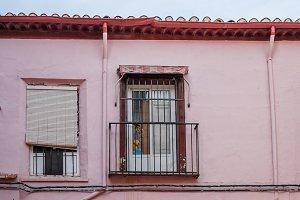 Facade of old house