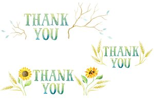 Pack of 7 thank you tags