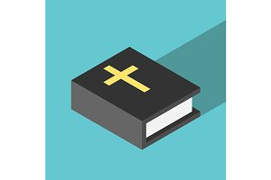 Simple isometric Holy Bible