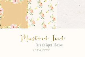 Digital Designer Paper-Mustard Seed