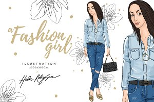 a Fashion Girl Illustration