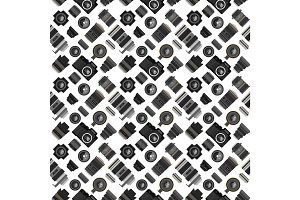 Photo lens pattern vector illustration.