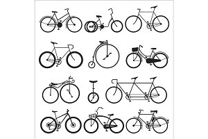 Hipster bicycle flat vector illustration.