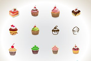 Pastry and Cupcakes Vector