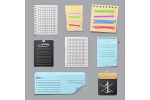 Sticker notes vector illustration.
