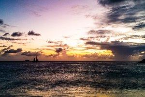 Maho Beach Sunset