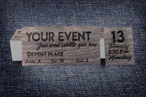 Wooden Multipurpose Event Ticket