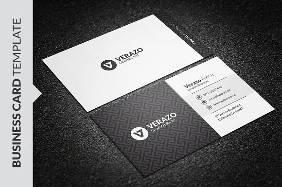 Elegant black white business card business card templates elegant black white business card business card templates creative market wajeb