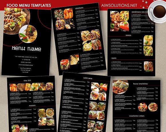 food menu template id26 brochure templates creative market