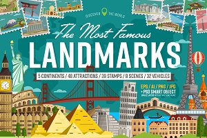 Most famous landmarks of the world