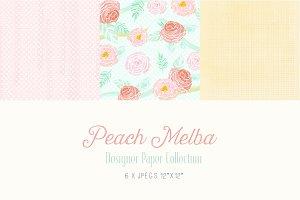 Digital Designer Paper - Peach Melba
