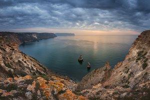 Cape Fiolent sea and rocks TIF