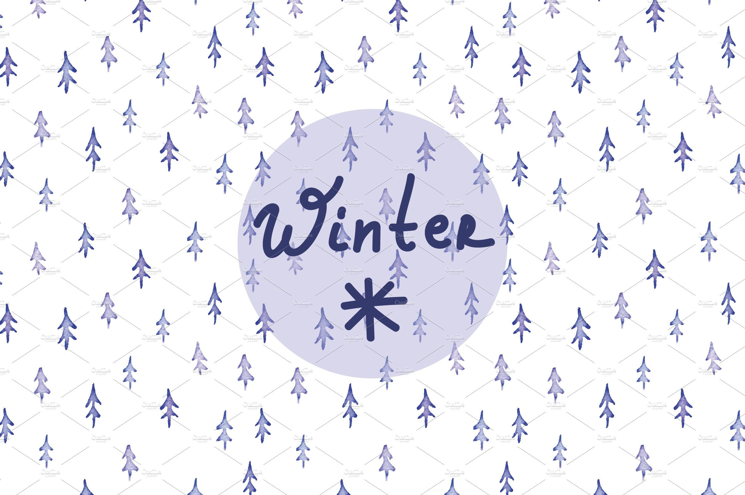 Winter Watercolor Background Graphic Patterns Creative Market
