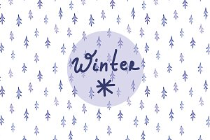 Winter watercolor background.