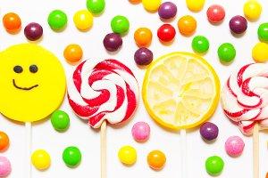 Lollipops, candy smile