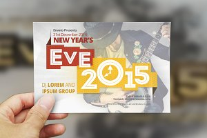 New Year Eve Postcard Template