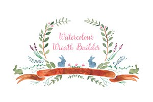 Watercolor Wreath Builder