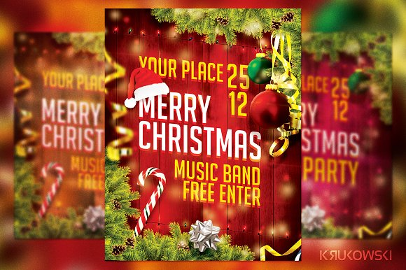 Merry Christmas Flyer in Flyer Templates