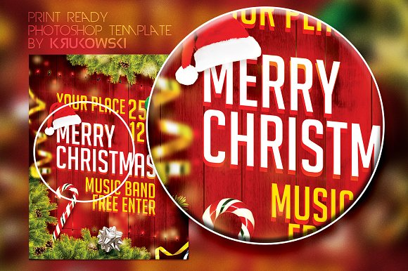 Merry Christmas Flyer in Flyer Templates - product preview 1