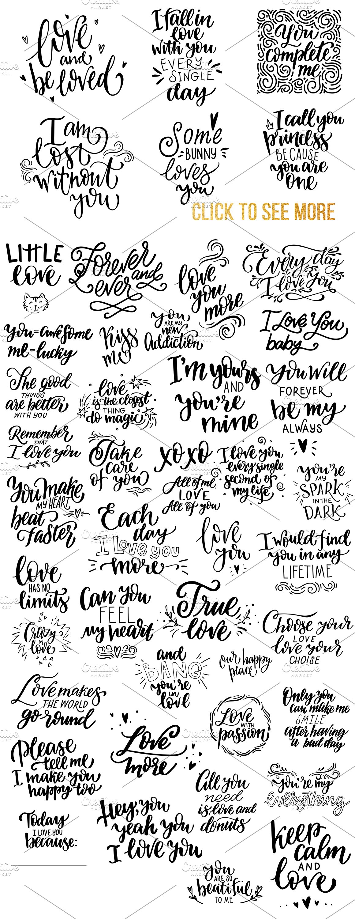 Giant lettering bundle about love ♥