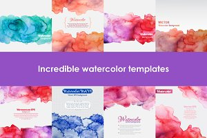 NEW FORMATS!!! Set of watercolors