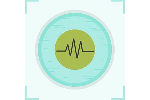 Cardiogram icon. Vector