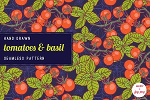 Bright vegetables pattern