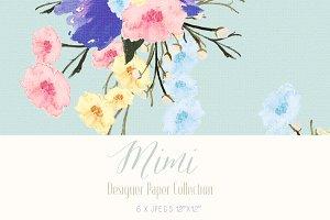 Digital Designer Paper - Mimi