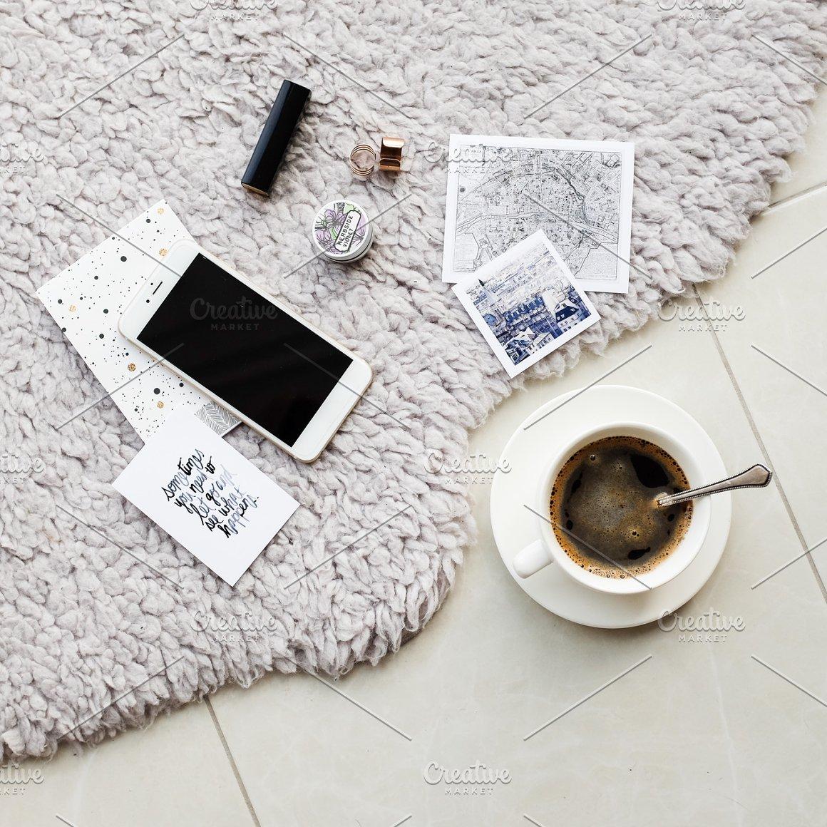 Square coffe flatlays bundle for ig