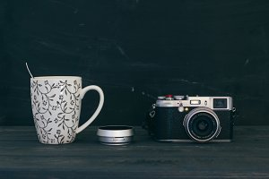 Camera with mug