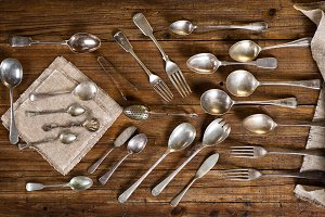 Utensils, retro style.
