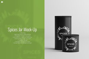 Spices Jar Mock-Up
