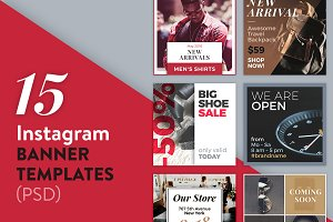 15 Instagram Banner Templates (PSD)