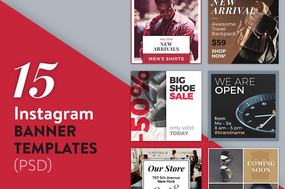 15 Instagram Banner Templates Psd