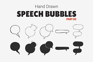 Hand Drawn Speech Bubbles [Part 02]