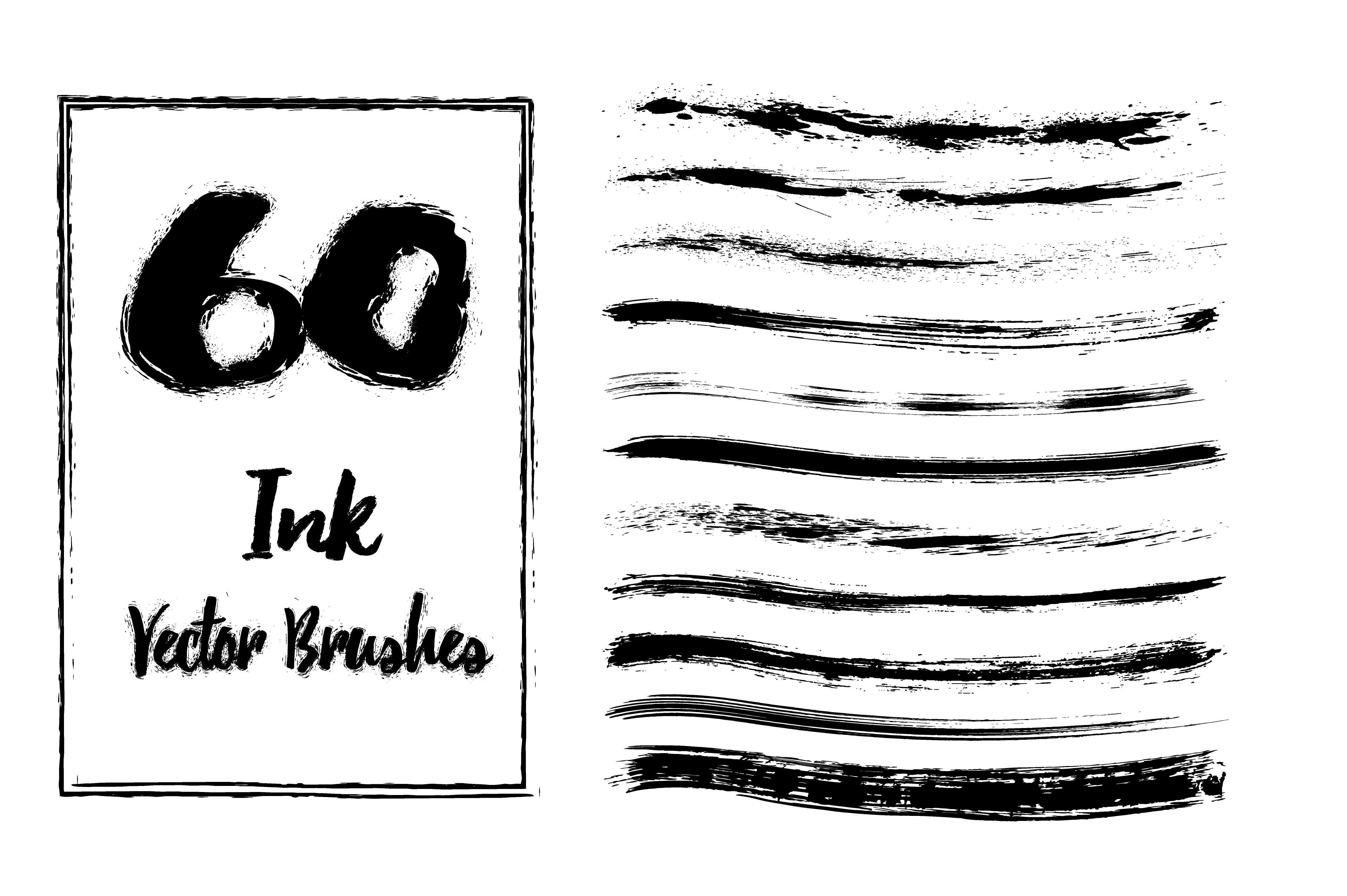 60 Grunge Brushes ~ Illustrator Add-Ons ~ Creative Market