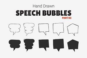 Hand Drawn Speech Bubbles [Part 03]