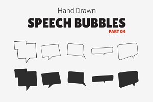 Hand Drawn Speech Bubbles [Part 04]
