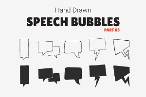 Hand Drawn Speech Bubbles [Part 05]