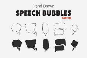 Hand Drawn Speech Bubbles [Part 06]