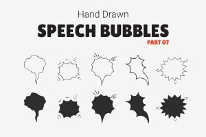 Hand Drawn Speech Bubbles [Part 07]