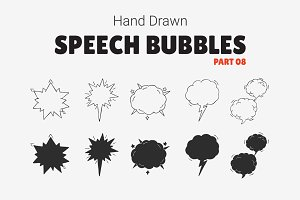 Hand Drawn Speech Bubbles [Part 08]