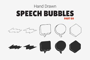Hand Drawn Speech Bubbles [Part 09]
