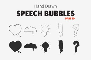 Hand Drawn Speech Bubbles [Part 10]