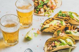 Healthy corn tortillas with beer