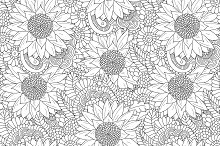 Funny Doodle. Floral collection