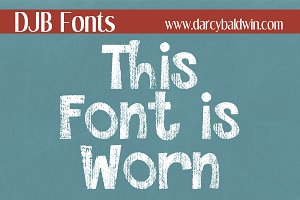 DJB This Font is Worn