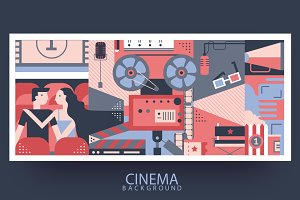 Cinema design abstract background